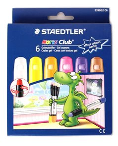 Gelové voskovky na sklo - pastelové - 6 ks