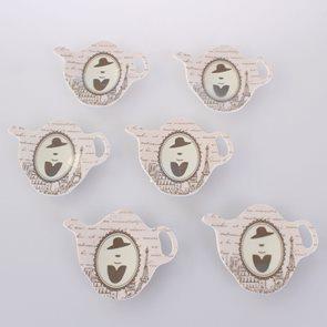 Dekorační podložka pod čajový sáček Paris Elegance - 6 ks