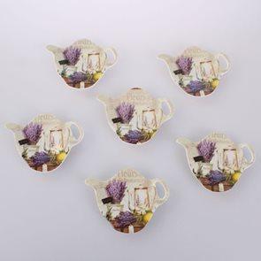 Dekorační podložka pod čajový sáček Levandulové zátiší - 6 ks