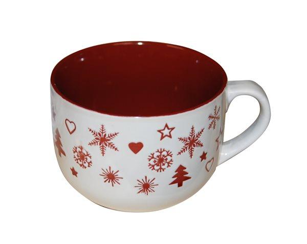 Porcelánový hrnek Vánoční čas červený - 460 ml