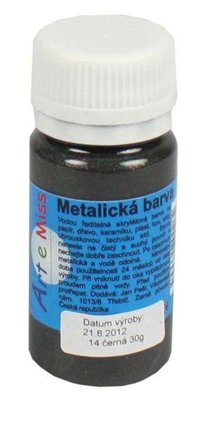 Univerzální barva-metalická 30g barva černá
