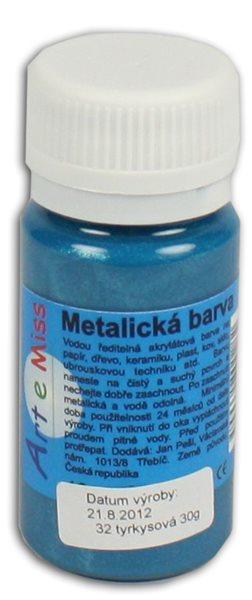 Univerzální barva-metalická 40g barva tyrkys