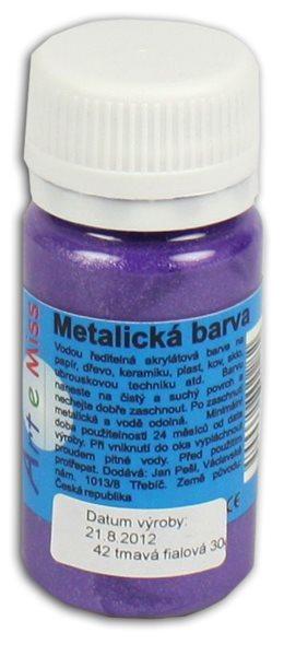 Univerzální barva-metalická 30g barva fialová