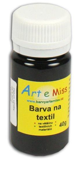 Barva na textil 40g - barva černá