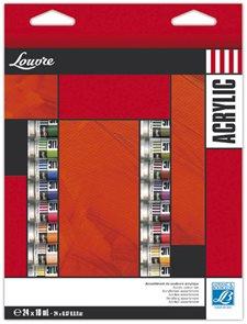 Akrylová sada Lefranc, Louvre 24x10 ml
