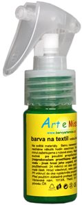 Textilní barva ve spreji - 30 g - barva světle zelená