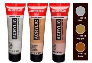 Sada akrylových barev Amsterdam Acrylics - 3 x 20 ml