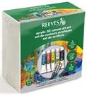 Akrylové barvy Reeves - sada - 5 x 10 ml + příslušenství