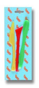 Modelovací nože plastové Jovi - 3 ks, závěs