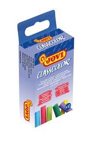 Křídy školní JOVI - 10 kusů barevné, bezprašné