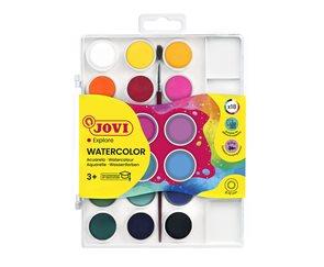 Barvy vodové Jovi - 18 barev (22 mm) +  štětec