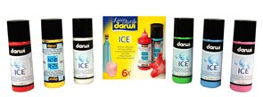 DARWI ICE Satinovací barvy na sklo s ledovým efektem - 6 x 80 ml