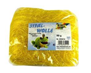 Sisalové vlákno 50 g - barva žlutá