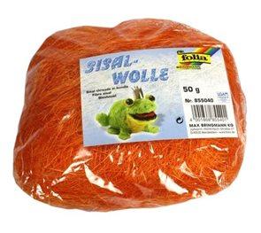 Sisalové vlákno 50 g - barva oranžová