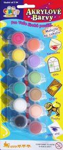 Akrylové barvy - 12 kusů