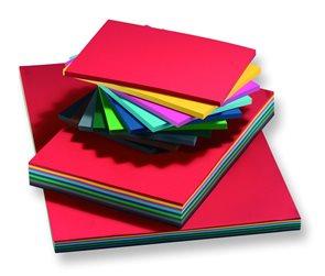 Barevné papíry A2 160 g - mix 10 barev 125 kusů