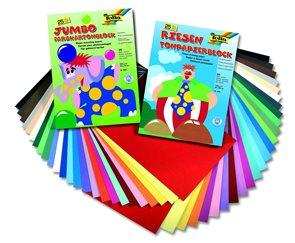 Barevné papíry 24×34 cm 300 g - sada 25 barev - 25 ks
