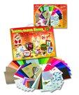 Sada barevných papírů na výrobu vánočních dekorací - 110 kusů, mix barev, velikostí a druhů papírů