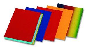 Hedvábný papír 50x70 cm, 5 barev, 20 g/m velké balení - 130 listů