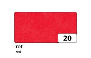 Hedvábný papír 50x70 cm, 20 g, 5 listů - barva červená