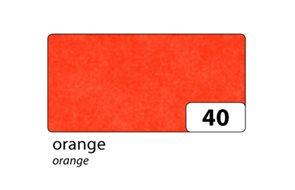 Hedvábný papír 50x70 cm, oranžový 20 g/m, složený na 25x35 cm, 5 listů,