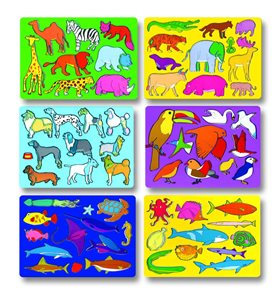 Obkreslovací šablony - sada 6 motivů, zvířata