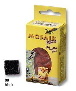 Mozaikové kamínky - skleněné - barva černá