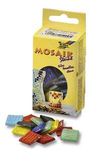 Mozaikové kamínky - skleněné - mix 10 barev