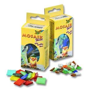 Mozaikové kamínky - skleněné - mix 10 barev, sada 5 balení