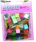 Mozaikové kamínky - blýskavé -  mix 20 lesklých barev