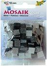 Mozaikové kamínky - se třpytkami - barva šedá