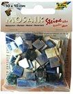 Mozaikové kamínky - Mramor - barva modrá