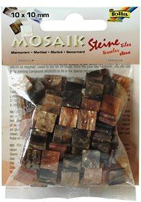 Mozaikové kamínky - Mramor - barva hnědá