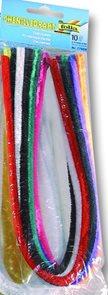 Modelovací drátky - průměr 8 mm, délka 50 cm, 10 ks - mix barev