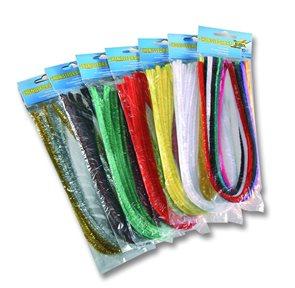 Modelovací drátky - průměr 8 mm, délka 50 cm, 100 ks - mix barev
