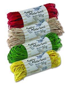 Přírodní lýko - 4 x 50 g - mix 4 barev