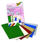 Papír s vystouplými andělíčky 23x33 cm, 220 g - 10 ks, mix 6 barev