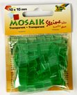 Mozaikové kamínky - průhledné - barva světlounce zelená