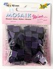 Mozaikové kamínky - blýskavé - barva tmavě fialová