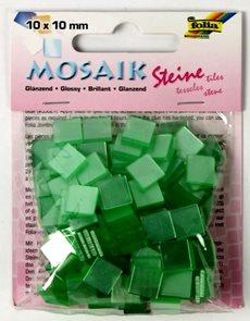 Mozaikové kamínky - blýskavé - barva světlounce zelená