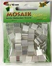 Mozaikové kamínky - tón v tónu mix - barva bílá
