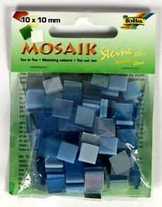 Mozaikové kamínky - tón v tónu mix - barva modrá