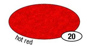 Filcový papír silný - barva červená