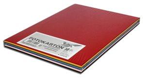 Barevné papíry A4 300 g - mix 10 barev 50 kusů /Fotokarton DIN A4 sort./