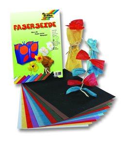 Hedvábný vláknitý papír 47×64 cm, 25 listů - mix barev
