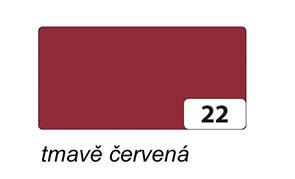 Barevné papíry 50×70 cm, 130 g, 10 ks - barva tmavě červená