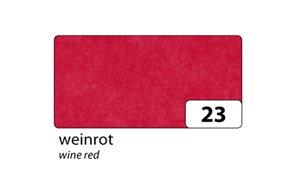 Hedvábný papír 50x70 cm, 20 g/m,26 listů, barva - vínová