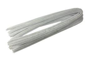 Modelovací drátky - průměr 8 mm, délka 50 cm, 10 ks - barva bílá