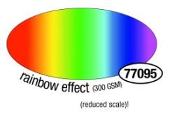 Barevné papíry 49×68 cm, 300 g, v barvě duhové z obou stran (10 listů)