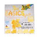 Origami papír Basics 80g/m2 - 10 x 10 cm, 50 archů - žlutý